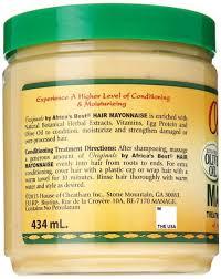 Is Mayonnaise Good For Hair Growth Amazon Com Africa U0027s Best Organics Hair Mayonnaise 15 Oz Pack