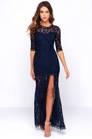 blue lace dress gorgeous navy blue dress lace dress half sleeve dress maxi