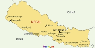 nepal map blank political nepal map with cities