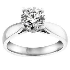 solitare ring white gold 1 00 carat canadian diamond solitaire ring