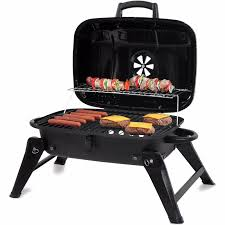 backyard grill 278 sq in portable charcoal grill black ebay