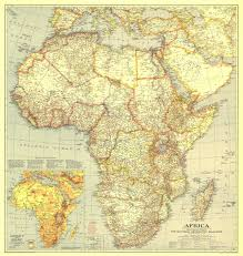 Africa Maps by National Geographic Africa Map 1935 Maps Com