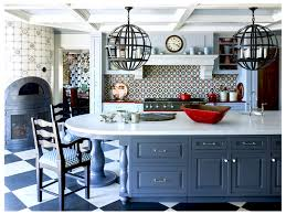 park city country kitchen tile backsplash checkered floor cococozy