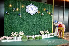 wedding backdrop setup royal blue outdoor garden wedding theme at connexion nexus