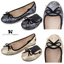 butterfly twists butterfly twists folding ballerina pumps womens from