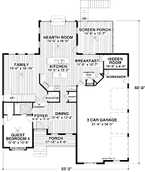 craftsman style house plan 4 beds 4 00 baths 2953 sq ft plan 56 560