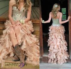 prom dress sequin prom dress country style prom by lass on zibbet