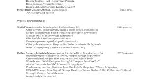 yoga instructor resume freelance resume writers writer editor resume resume for video