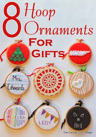handmade gift 8 hoop ornament ideas the country chic cottage