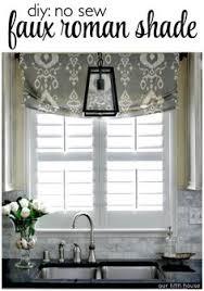 Making A Valance Window Treatment No Sew Faux Roman Shade Faux Roman Shades Roman And Window