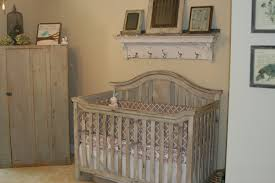 furniture baby bed room with rustic wooden baby nursery under