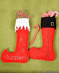Homemade Christmas Stockings by Felt Punched Stocking U0026 Martha Stewart