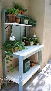furniture home diy potting bench sink and faucet modern elegant