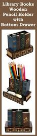 Nailed It Desk Organizer by Library Books Pencil Holder With Bottom Drawer Review Book