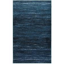 Blue And Black Rug Hand Woven Matador Blue Leather Rug 8 U0027 X 10 U0027 Free Shipping