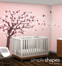 Cherry Blossom Wall Decal For Nursery Charming Tree Wall Stickers Plus Vinyl Decal Sticker Cherry
