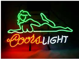 Neon Bar Lights Super Bright Fs Neon Sign Coors Light Beautiful Girls Handcrafted