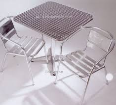 Aluminum Bistro Table And Chairs Printable Chair Imprinted Branded Printing Printed Chair