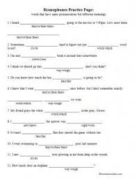 homophone worksheet correct the homophones worksheets