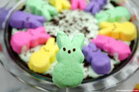 easter desserts peeps chocolate peppermint marshmallow pie no bake easter dessert