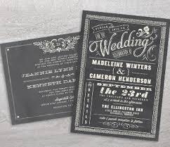 chalkboard wedding invitations wedding invitation trends