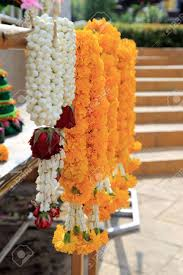 hindu garland flowers garland for offering sacrifice in hindu or buddhist