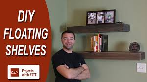 Wooden Shelves Diy by How To Make Floating Shelves Diy Wood Floating Shelves Youtube