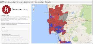 San Diego County Map 2014 San Diego Barrio Logan Community Plan Election Results San