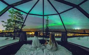 vacation to see the northern lights maybe the best place to fall asleep under the northern lights