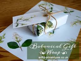 botanical wrapping paper artful adventures the artful kids for the at