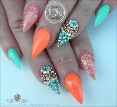 luminous nails glamorous nails inspired by malishka702 nails