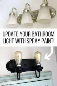 Update Bathroom Lighting How To Give Your Builder Grade Vanity Light Farmhouse Style For