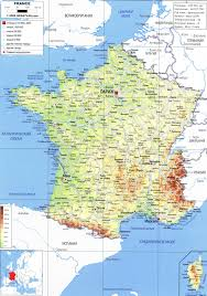 Detailed Map Of France by France
