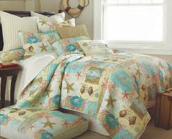 Tropical Bedspreads And Coverlets Channel Islands Coastal Quilt Set