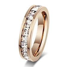 gold wedding rings for women womens stainless steel gold wedding ring channel