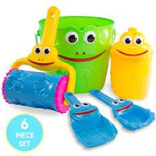 kids sand toys frog bucket set beach toy set