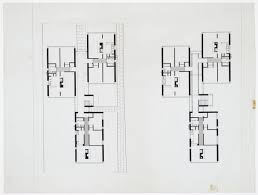 james stirling and james gowan plan for the three storey block