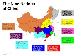 Map Of China And Taiwan by The Nine Nations Of China Patrick Chovanec