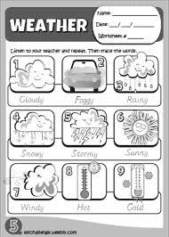 weather worksheet http eslchallenge weebly com hello kids 1