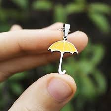 how i met your you re my yellow umbrella necklace iwisb