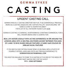 Casting Assistant Gemma Sykes Gemsykes Twitter