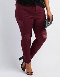 Plus Size Ripped Leggings Plus Size Refuge Skinny Boyfriend Jeans Charlotterusseplus