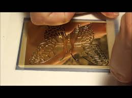 How To Use Home Design Gold by How To Use Gold Embossing Paste With Gold Leaf On Stencils For