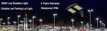 parking lot lighting manufacturers dlc etl approved 5years warranty led street light led parking lots