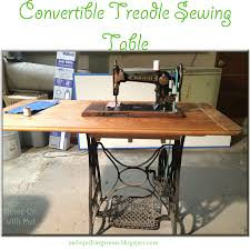 Portable Sewing Table by Convertible Treadle Sewing Machine Table The Quilting Room With Mel