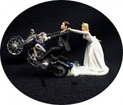 harley davidson wedding cake toppers motorcycle wedding cake topper w blue harley davidson