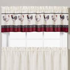 french country rooster tier window treatment