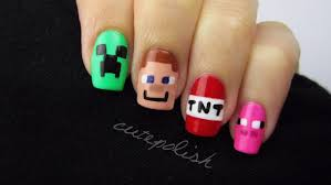 minecraft nail art nerd nail series youtube