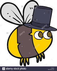freehand drawn cartoon bee top hat stock vector art u0026 illustration