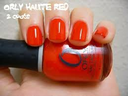 orly haute red free shipping at nail polish canada